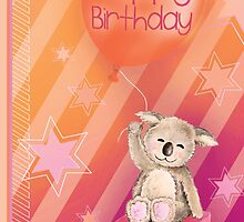 Keddy Koala presents Birthday Card by Sarah Trett
