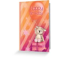 Keddy Koala presents Birthday Card Greeting Card