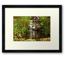 Tumbling water Framed Print