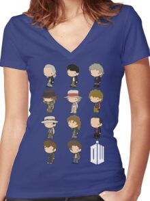 The 11 Doctors Women's Fitted V-Neck T-Shirt
