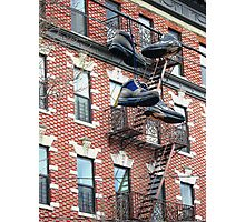 Walking down buildings Photographic Print