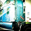 Big Blue Truck and no Cherry Tree by ElaineKelly