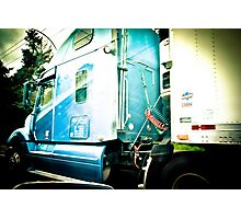 Big Blue Truck and no Cherry Tree Photographic Print