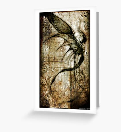Idolomantis diabolica by Jesse Lindsay 2011 Greeting Card
