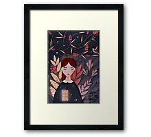 Open heart Framed Print