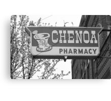 Route 66 - Chenoa Pharmacy Canvas Print