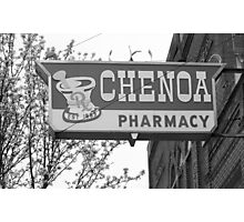 Route 66 - Chenoa Pharmacy Photographic Print