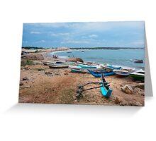 Fishing Boats - Sri Lanka Greeting Card