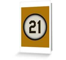 21 - Arriba (alt version) Greeting Card