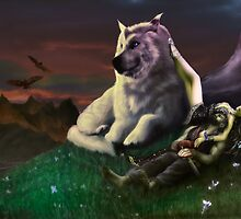 Luthien tends Beren by rinthcog