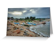 Boats at Rest - Sri Lanka Greeting Card