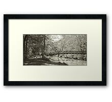 Along the Tow Path Trail Framed Print