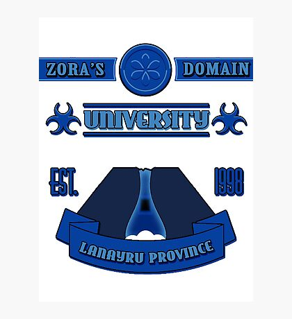 Legend of Zelda - Zora's Domain University  Photographic Print