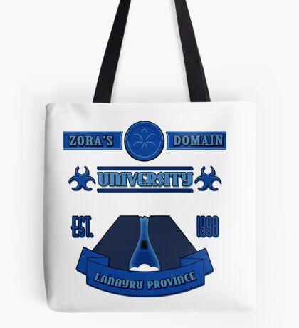 Legend of Zelda - Zora's Domain University  Tote Bag