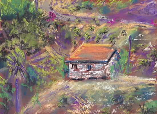 Next Door (pastel) by Niki Hilsabeck