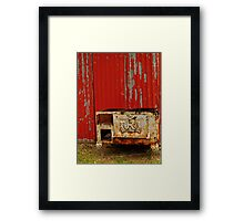 R is for Red & Rusty Framed Print