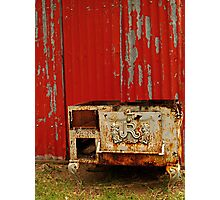 R is for Red & Rusty Photographic Print