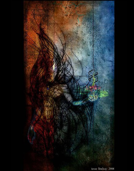 tetragramatron by Jesse Lindsay 2011  by jesse lindsay