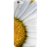 Closeup of a daisy with dew drops iPhone Case/Skin