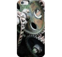 Old gears and machinery iPhone Case/Skin