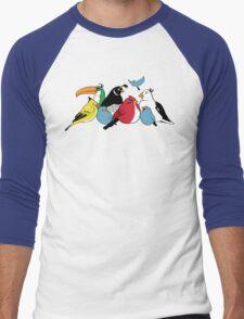 Furious Feathered Friends Men's Baseball ¾ T-Shirt