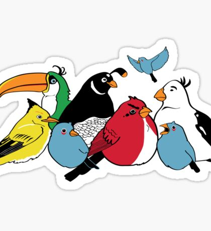Furious Feathered Friends Sticker
