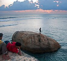 Sunset over Galle Fort by Dilshara Hill