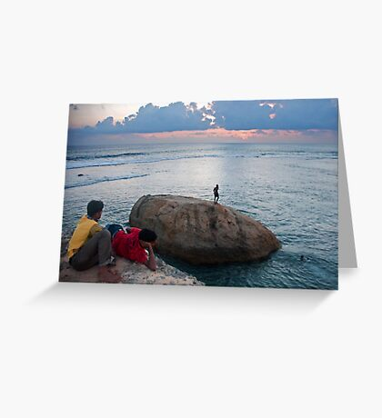 Sunset over Galle Fort Greeting Card