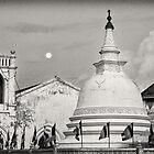 Moon Rise - Galle Fort by Dilshara Hill
