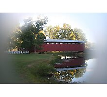 Staats Mill Covered Bridge in Ripley WV Photographic Print