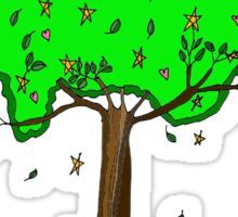 Hearts and Stars tree Sticker