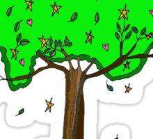 Hearts and Stars tree Sticker