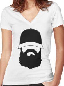 Fear The Beard T Shirt by Fear The Beard Women's Fitted V-Neck T-Shirt