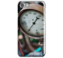 Old steam pressure gauge iPhone Case/Skin