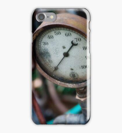 Old steam pressure gauge iPhone Case/Skin