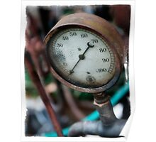Old steam pressure gauge Poster