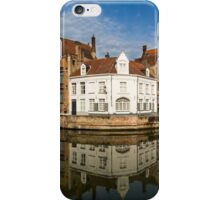 Canal and Reflections Bruges Panorama iPhone Case/Skin