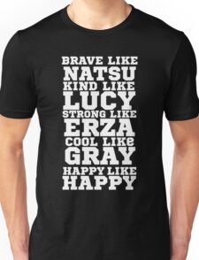 Fairy Tail Logo Brave Like Natsu Dragneel Erza Scarlet Lucy Heartfilla Gray Fullbuster Anime Cosplay T Shirt Unisex T-Shirt