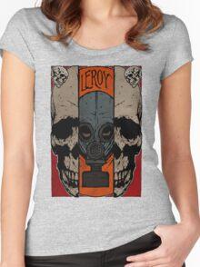 Split Skull Women's Fitted Scoop T-Shirt