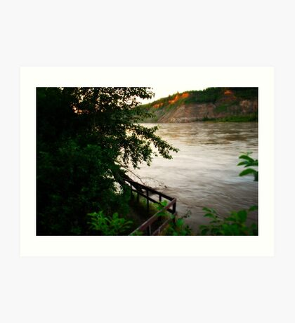 Swollen - North Saskatchewan River Art Print