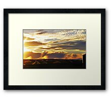 Sprinklers by Sunset Framed Print