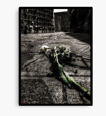 Dying Among The Dead Canvas Print