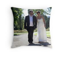 Happily Throw Pillow