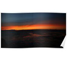 water light cloud. tasmania Poster
