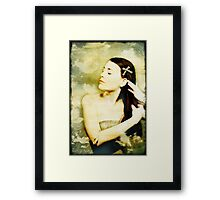 Girl With Ribbon Framed Print