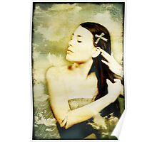 Girl With Ribbon Poster