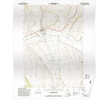 USGS Topo Map Oregon Prairie City 281165 1996 24000 Poster