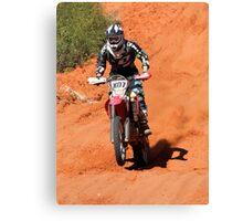 Bike X07 - Finke 2011 Day 2 Canvas Print