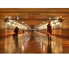 To Trains Photographic Print