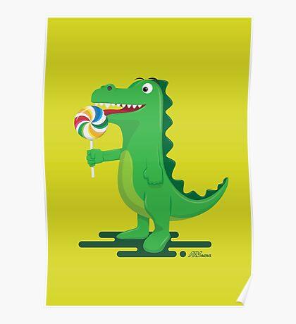 Dino Like Lolipop Poster